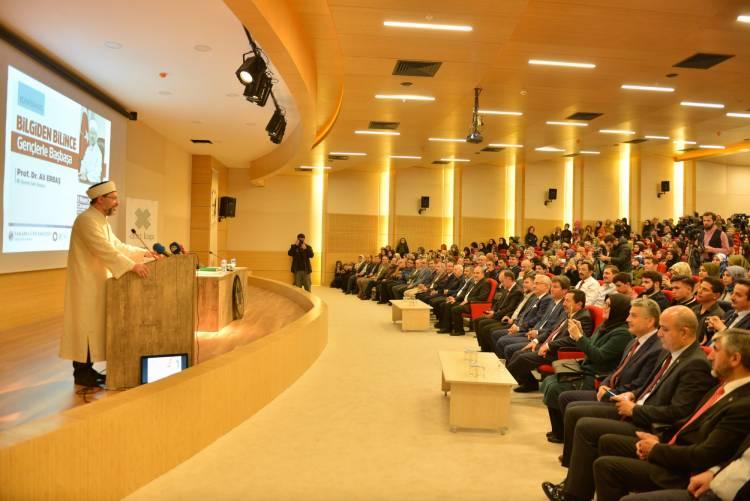 Diyanet İşleri Başkanı Prof. Dr. Ali Erbaş Fakültemizde Konferans Verdi