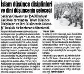 İslam Düşünce Disiplinleri ve Dini Düşüncenin Geleceği Konulu Açılış Dersi