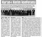 Din-Devlet İlişkileri ve Siyaset Bağlamında Kur'an-ı Kerimlerin Basımı Konulu Konferans