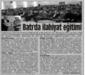 Batı'da Dil ve İlahiyat Eğitimi Almak Üzerine Konulu Konferans