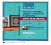 Kur'ân-ı Kerim'le İletişim Kurmanın Anahtarları: Kur'an Dilini Anlamak