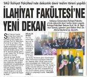 İlahiyat Fakültesinde Dekanlık Devir Teslim Töreni