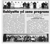 İlahiyatta Yıl Sonu Programı