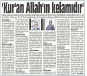 Kur'an-ı Kerim'in Mahiyeti ve Müfessir Konulu Konferans